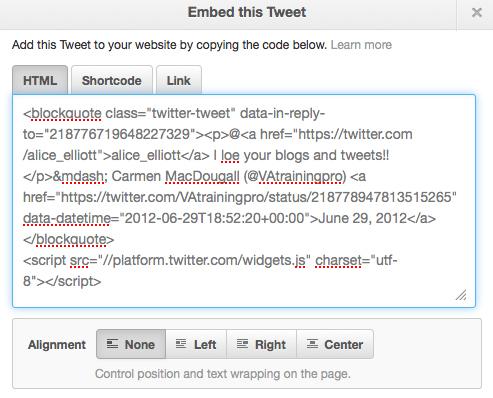 Embed this tweet