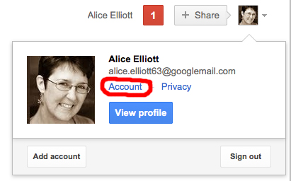 Accessing your Google Account