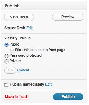 Public publishing options