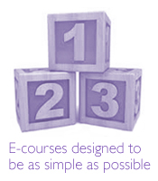 E-courses designed to be as simple as possible