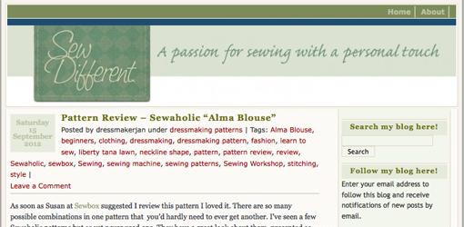 Sew Different Blog