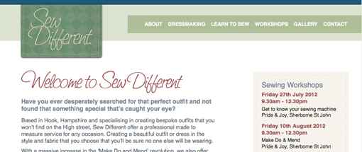 Sew Different Website