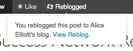 Reblog successful in WordPress.com