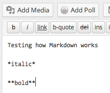 Showing how to practice Markdown