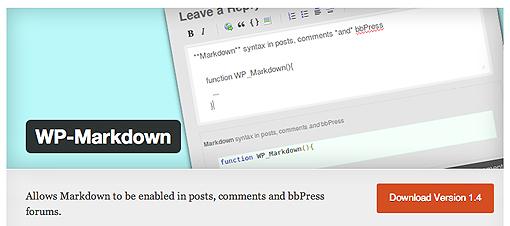 WP-Markdown Plugin