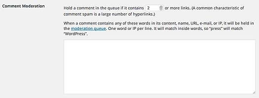 How to moderate spammy links or words
