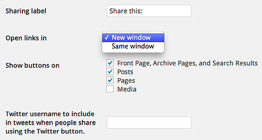 Fancy Share Button Options