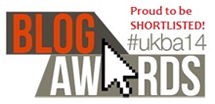 Proud to be shortlisted in the National UK Blog Awards 2014