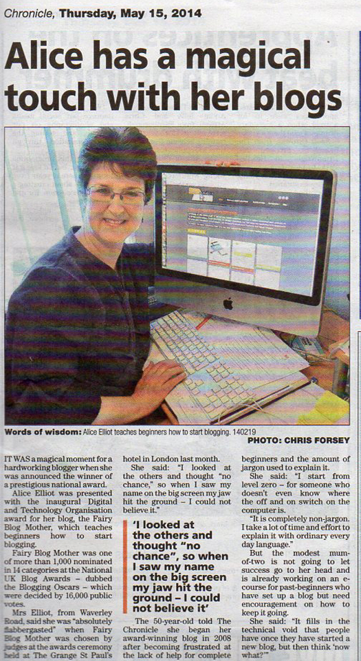 Writeup in Reading Chronicle May 2014