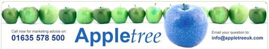 Showing contact details in Appletree's banner