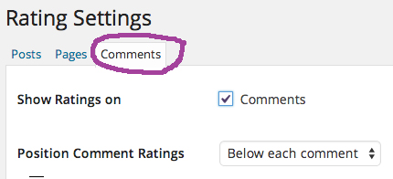 How to regulate ratings on comments