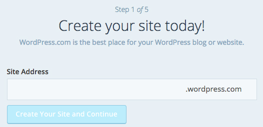 Create a WordPress.com website
