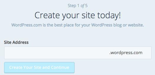 Create a WordPress.com website