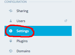 Go to Settings to find the Google Analytics option