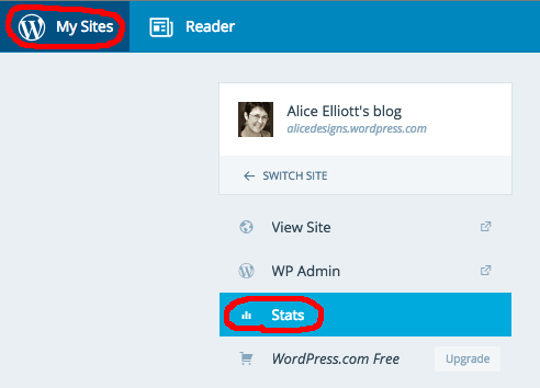 Where to find your blog stats in WordPress.com