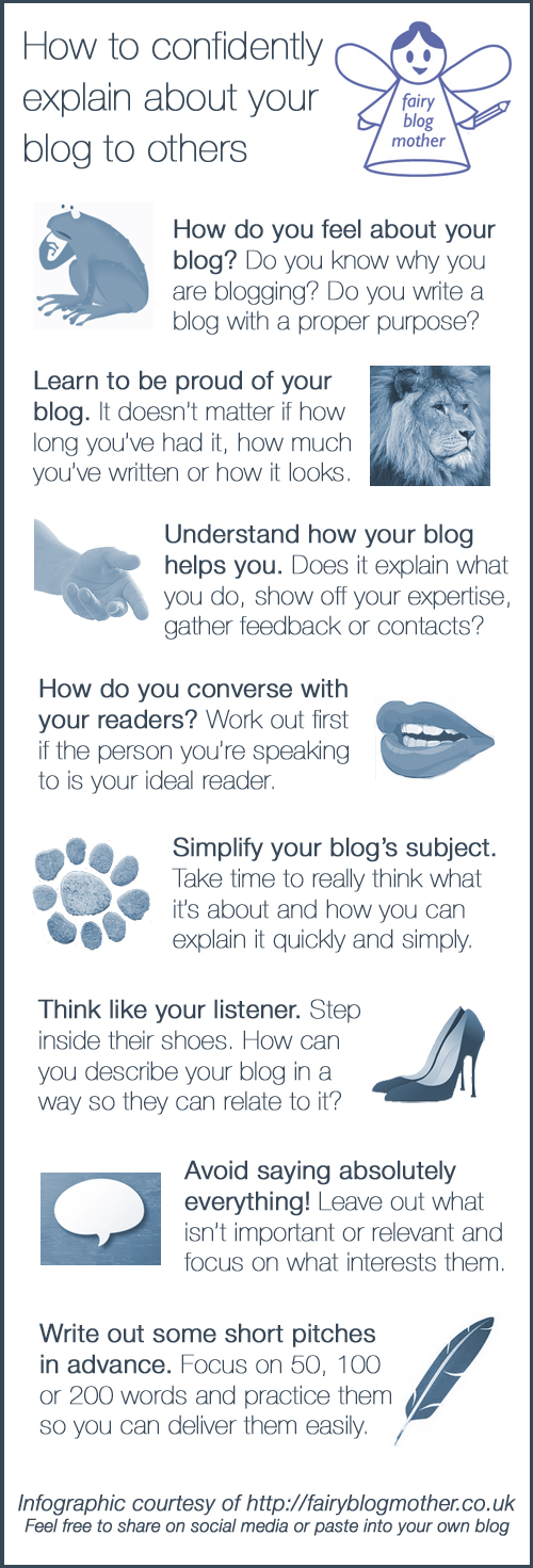 How to confidently explain your blog to others