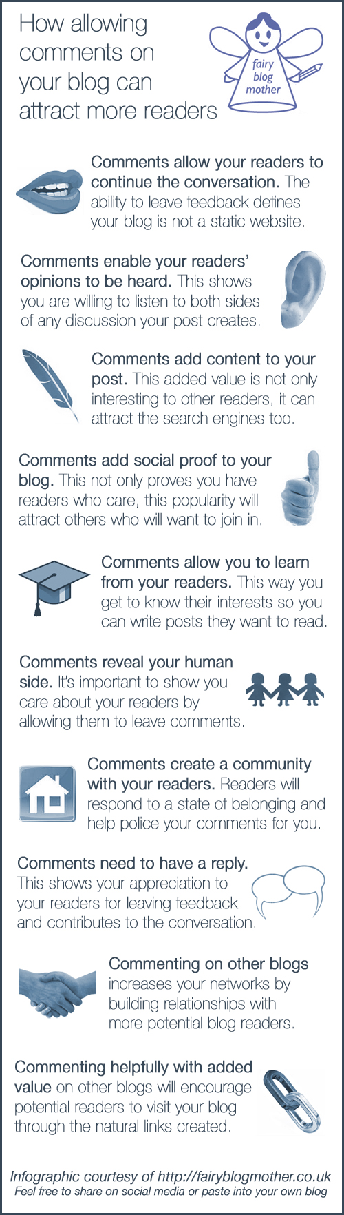 How allowing comments on your blog can attract more readers
