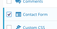 Activate Contact Form in Jetpack settings