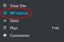 Alternative sidebar link to WP Admin