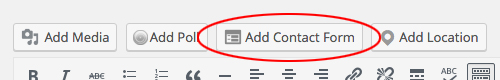 Contact form button location