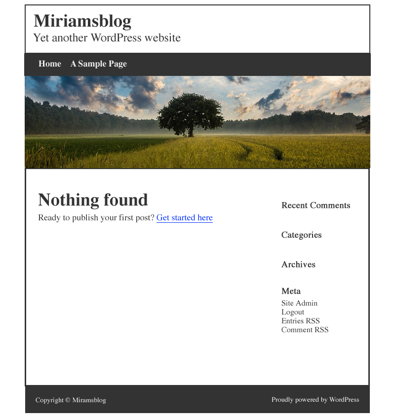 Miriam's first attempt at creating a blog