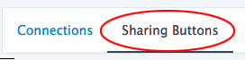 Select Sharing Buttons at the top