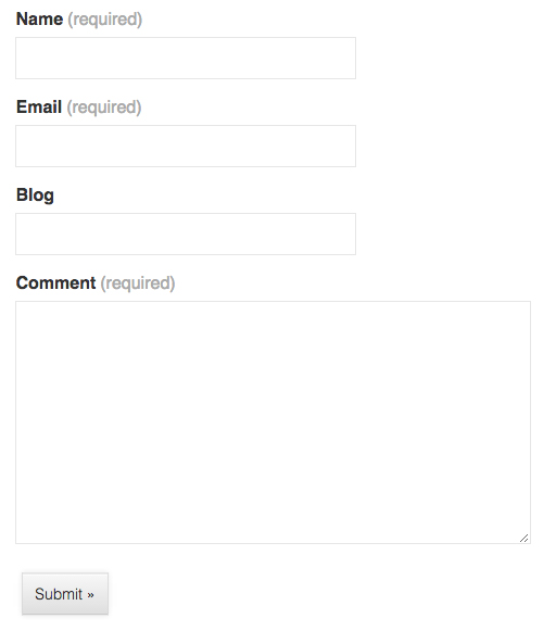 simple contact form example