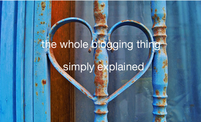 the whole blogging thing simply explained