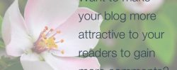 Want to make your blog more attractive to your readers to gain more comments?