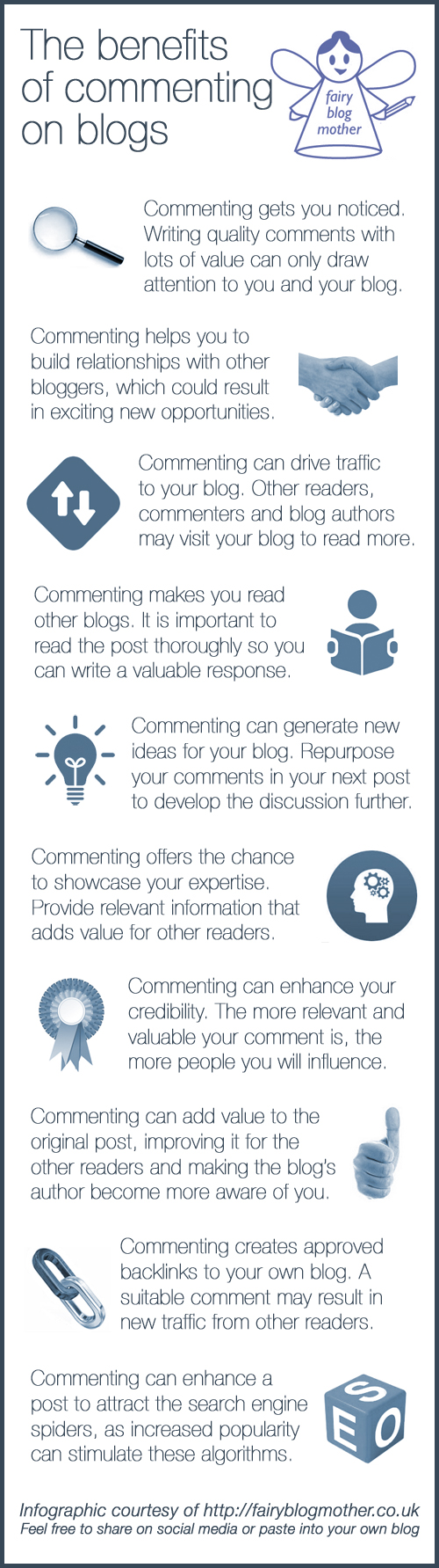 The benefits of commenting on blogs