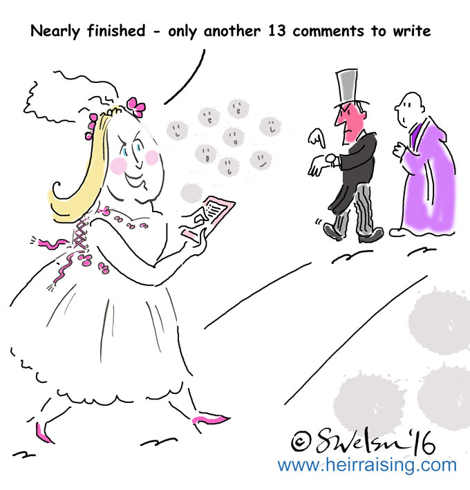 Blog comments (wedding)