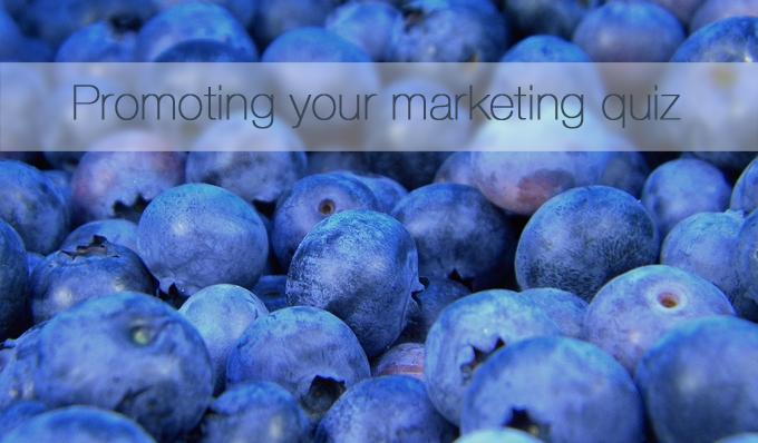 Promoting your marketing quiz