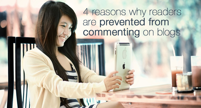 why readers are prevented from commenting on blogs