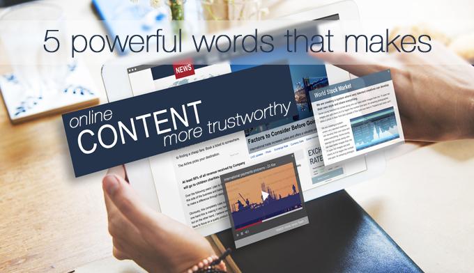 online content more trustworthy