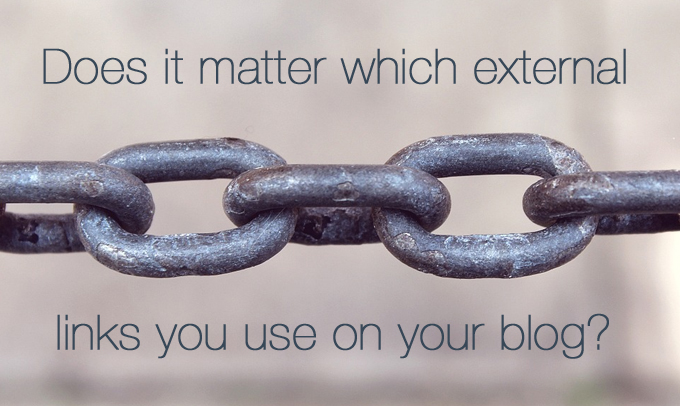 using external links in your blog post