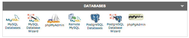 Databases option in C-panel