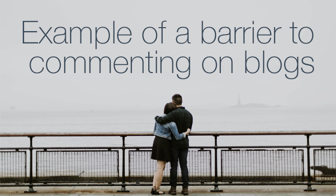 barrier to commenting on blogs