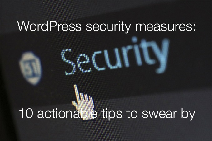 WordPress security measures