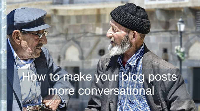 conversational blog posts