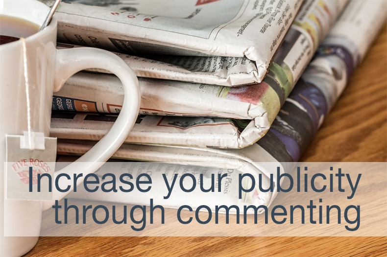 Increase your publicity through commenting