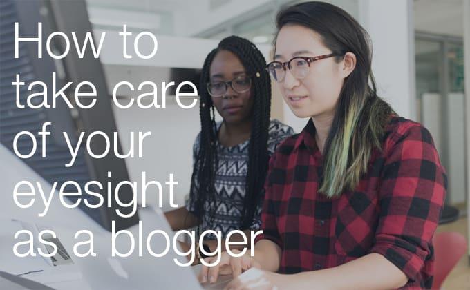blogger eyesight