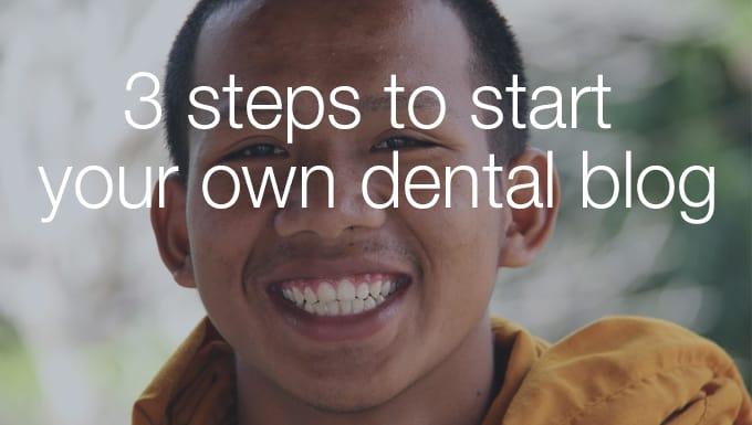 create your own dental blog