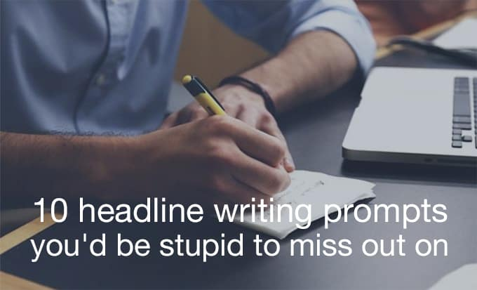headline writing prompts