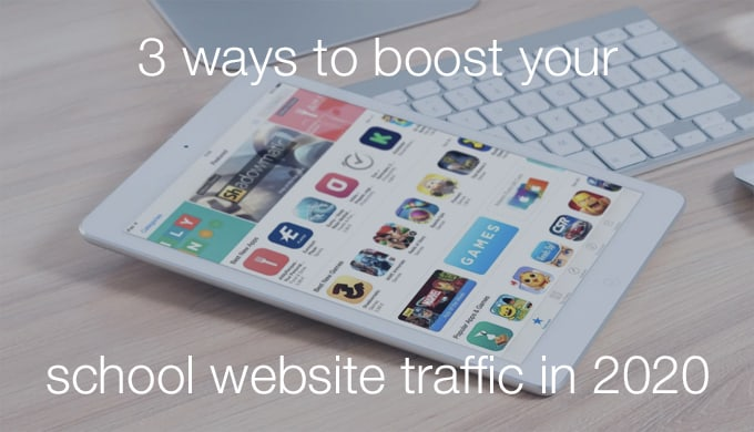 school website traffic