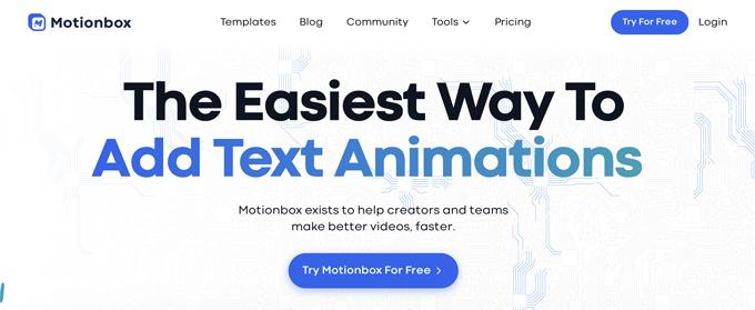 Motionbox website