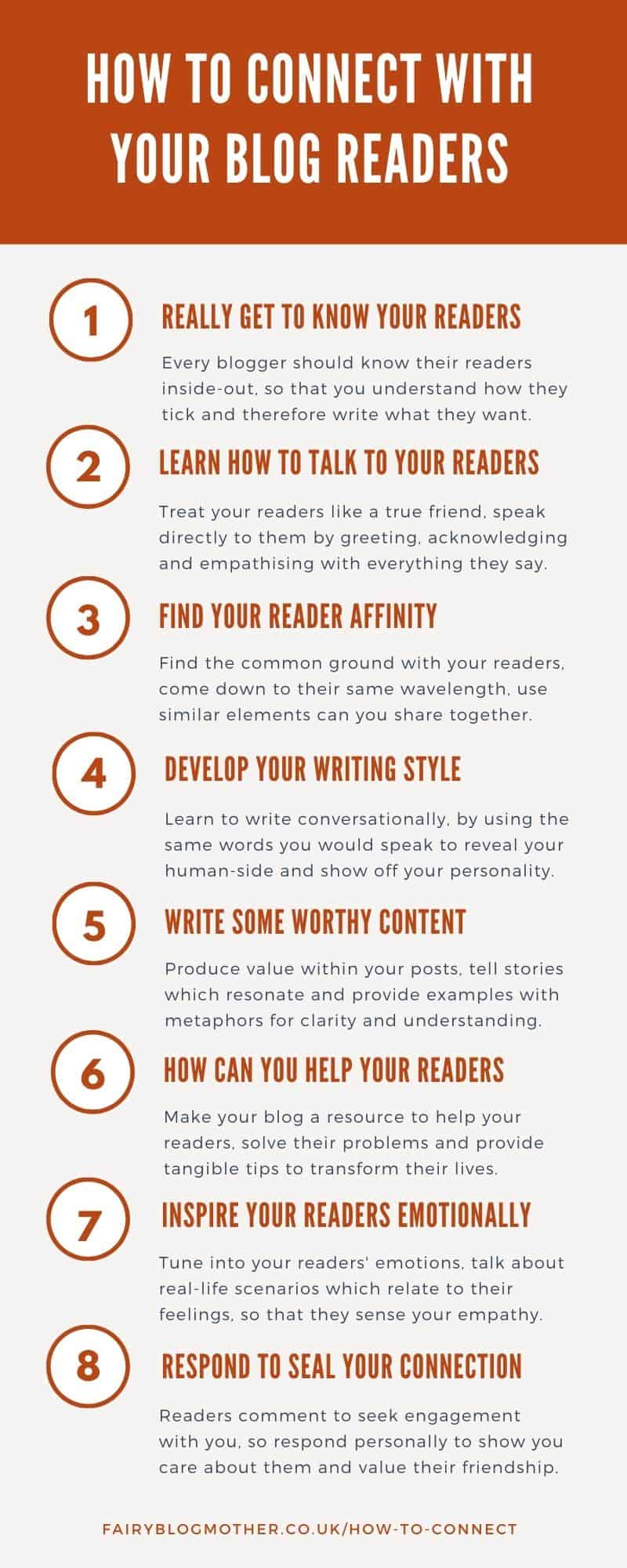 8 tips on how to connect with your blog readers