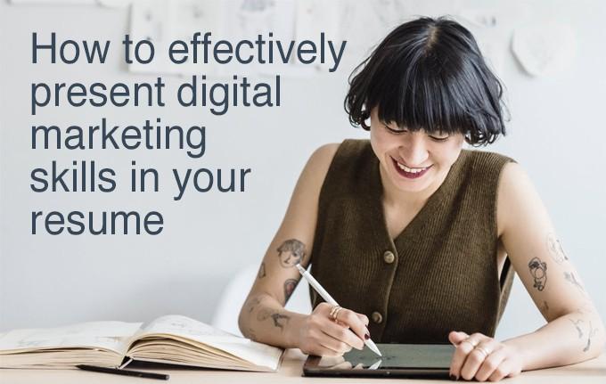 digital marketing skills in resume